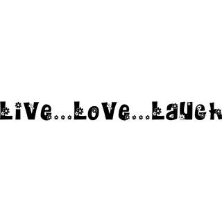 Design on Style Live...Love...Laugh' Flower Design Vinyl Art Quote