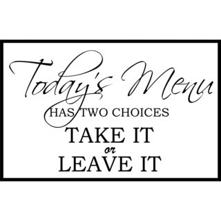 Design on Style 'Today's Menu' Vinyl Art Quote