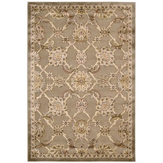 kathy ireland Bel Air Euro Centry Beckingham Brown Area Rug by Nourison (4'11 x 7')