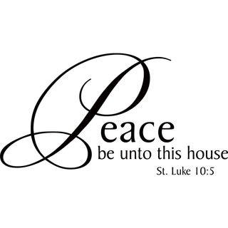 Design on Style 'Peace be unto this house' Vinyl Art Quote