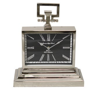 Barnes High Street Classic Square Nickel Table Clock