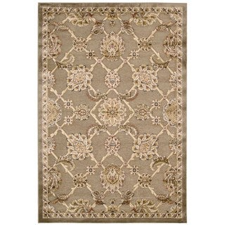 kathy ireland Bel Air Euro Centry Beckingham Brown Area Rug by Nourison (3'6 x 5'6)