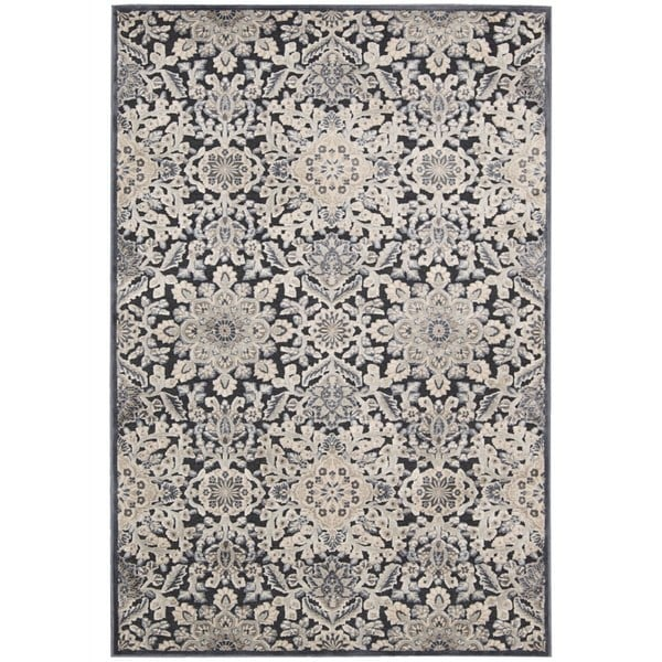 kathy ireland Bel Air Euro Century Marseille Charcoal Area Rug by Nourison - 7'9 x 9'9