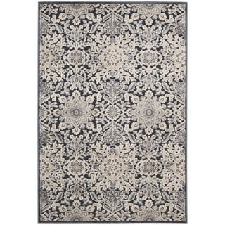 kathy ireland Bel Air Euro Century Marseille Charcoal Area Rug by Nourison (7'9 x 9'9)