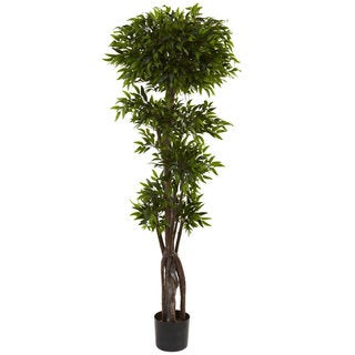 Nearly Natural 5-foot Ruscus Tree Decorative Plant