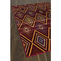 Chroma Diamond Red Red Abstract Area Rug - 4'7 x 6'3