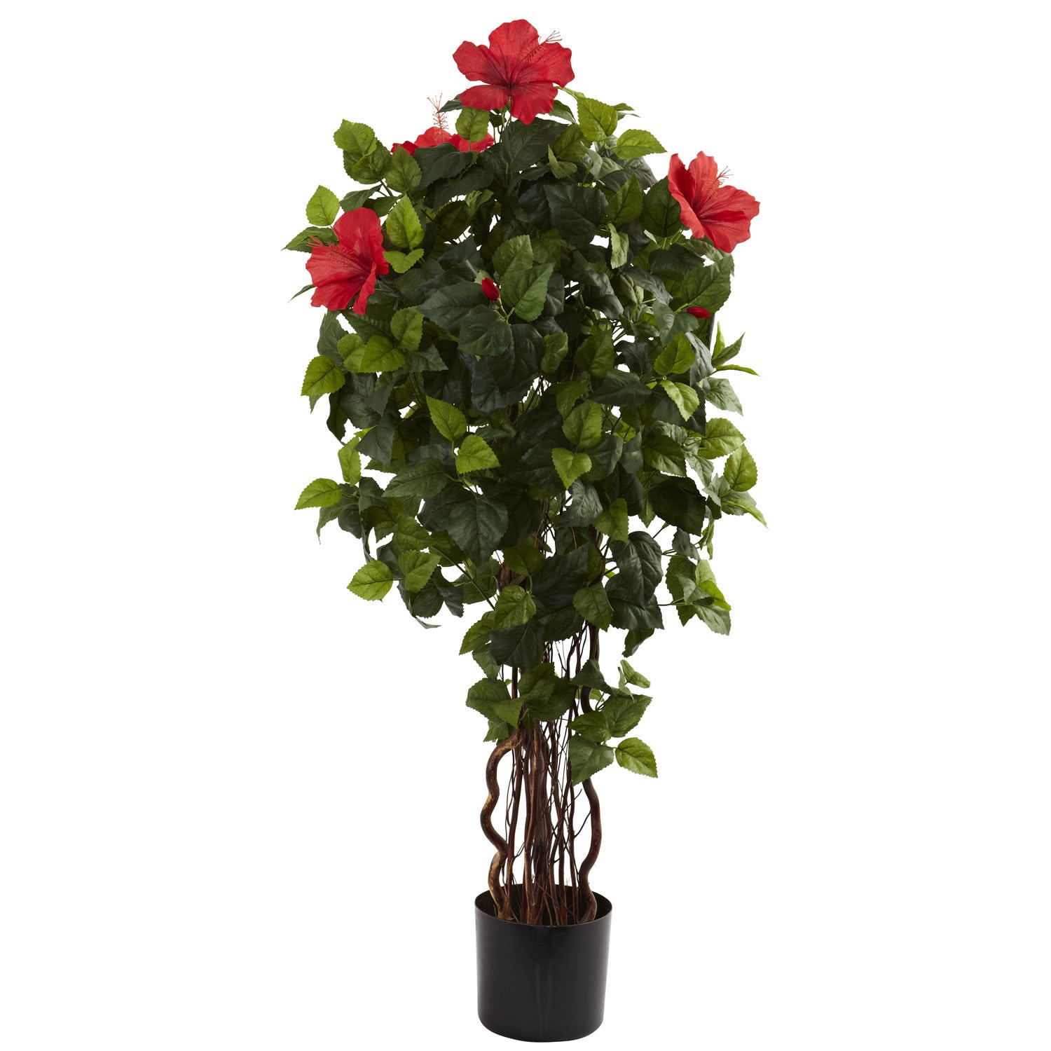 Nearly Natural 4-foot Hibiscus Tree Decorative Plant (4' ...