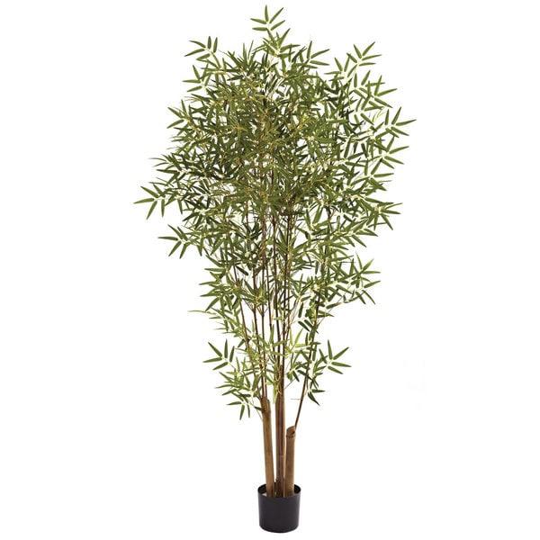 Nearly Natural 6-foot Japanese Bamboo Tree Decorative Plant