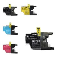 Refilled Insten Black Non-OEM Ink Cartridge Replacement for Brother LC75BK/ LC71BK