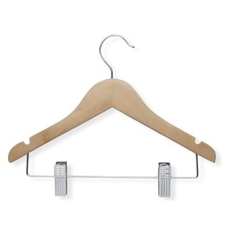 Honey Can Do Kid's Basic Hanger with Clips (Set of 10)
