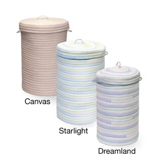 Colonial Mills Ticking-Stripe Fabric Hamper with Lid