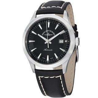 Zeno Men's 6662-2824-G1 'Gentlemen' Black Dial Black Leather Strap Automatic Watch