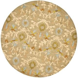 Safavieh Handmade Moroccan Cambridge Moss Wool Rug (10' Round)