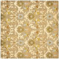 Safavieh Handmade Moroccan Cambridge Moss Wool Rug (10' Square) - 10' x 10' square