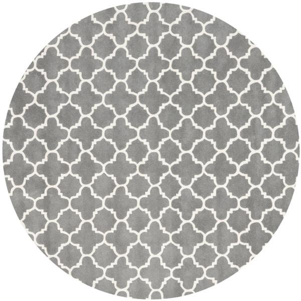 Safavieh Handmade Moroccan Chatham Dark Gray Ivory Wool Area Rug 9 X27