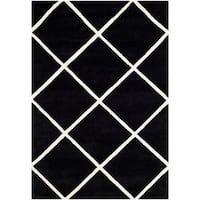 Safavieh Handmade Moroccan Chatham Black/ Ivory Wool Area Rug - 3' X 5'