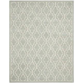 Safavieh Handmade Moroccan Chatham Grey/ Ivory Wool Rug (9' x 12')