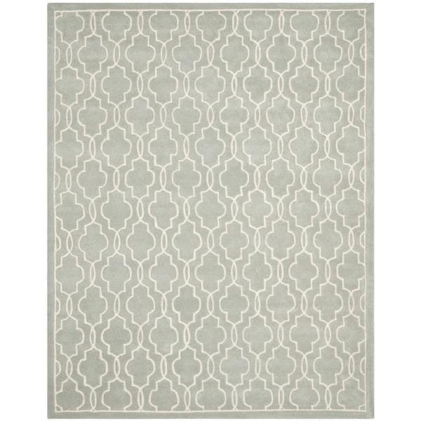 Safavieh Handmade Moroccan Chatham Grey/ Ivory Wool Rug - 9' x 12'
