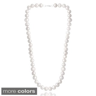 Glitzy Rocks Colored Freshwater Pearl 24-inch Necklace (8-9 mm)