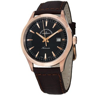 Zeno Men's 6662-2824-PGR-F1 'Gentlemen' Black Dial Brown Leather Strap Automatic Watch