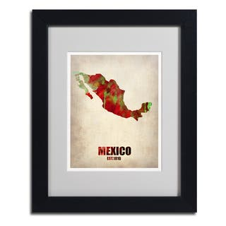 Naxart 'Mexico Watercolor Map' Framed Matted Art|https://ak1.ostkcdn.com/images/products/8368442/8368442/Naxart-Mexico-Watercolor-Map-Framed-Matted-Art-P15674777.jpg?impolicy=medium