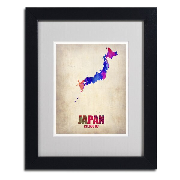 Other Artwork Naxart Quot Japan Watercolor Map Quot Framed
