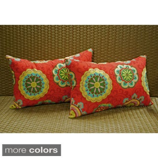 Blazing Needles 12 x 20-inch Rectangular Throw Pillows (Set of 2)