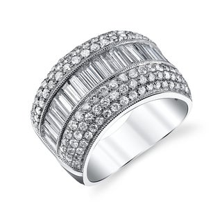 18k White Gold 2 3/5ct TDW Diamond Anniversary Band