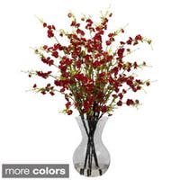 National Tree Company Cherry Blossoms and Vase Floral Arrangement