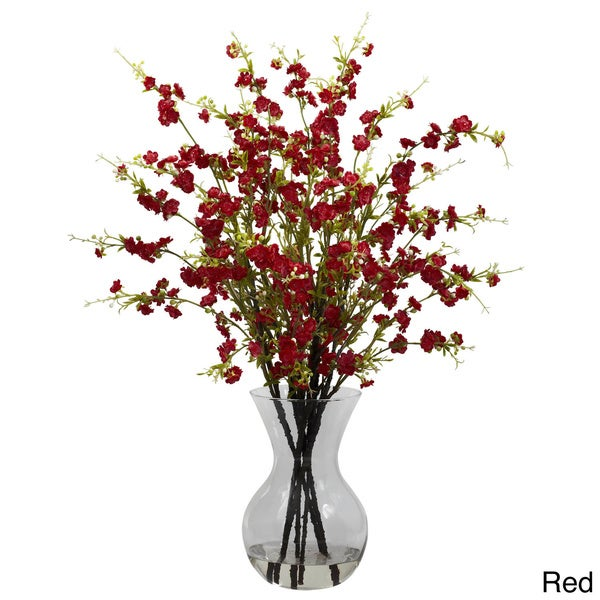 Shop National Tree Company Cherry Blossoms And Vase Floral