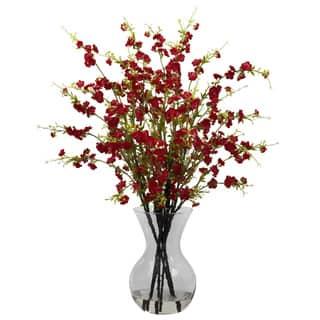 Cherry Blossoms and Vase Floral Arrangement