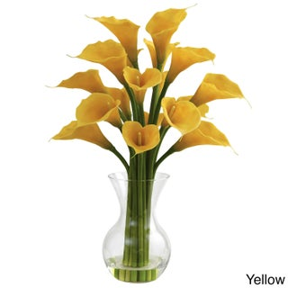 Cabinet Hardware Galla Calla Lily and Vase Floral Arrangement (Option: Galla Calla Lily W/Vase Arrangement - Yellow)