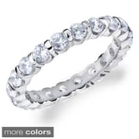 Amore 14k White Gold 1 1/2ct TDW Round Diamond Eternity Band