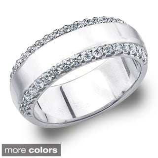 Amore 14k Gold 1/2ct TDW Machine-set Diamond Anniversary Band