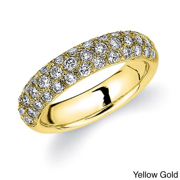 Amore 14k White or Yellow Gold 1ct TDW Diamond Pave Band