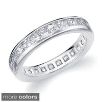 Amore 14k Gold 2ct TDW Machine-set Princess Diamond Eternity Band