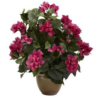 Bougainvillea and Ceramic Vase Floral Arrangement