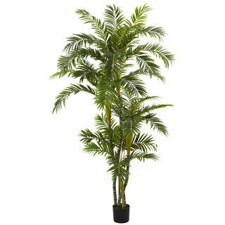 6-foot Silk Curvy Parlor Palm Tree