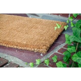 Blank 36 x 72-inch Thick Hand Woven Coir Doormat