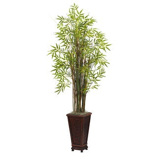 5.50-foot Grass Bamboo Plant with Decorative Planter