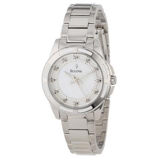 Bulova Women's 96P144 Diamond-accented Swiss Quartz Watch