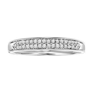 Cambridge Sterling Silver 1/6ct TDW Diamond Pave Band