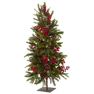 36-inch Pine and Berry Christmas Tree