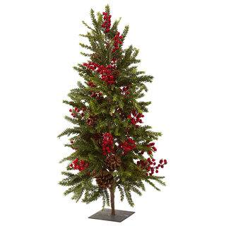36-inch Pine and Berry Christmas Tree|https://ak1.ostkcdn.com/images/products/8368668/8368668/36-inch-Pine-and-Berry-Christmas-Tree-P15674967.jpg?impolicy=medium