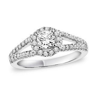 Cambridge 14k White Gold 1ct TDW Round Diamond Engagement Ring (I-J, I2-I3)