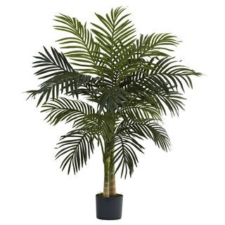 Havenside Home Crane Nearly Natural Golden Cane Palm 4-foot Tree