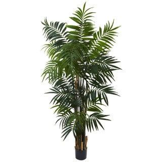 Nearly Natural 6-foot Bulb Areca Palm Tree Decorative Plant