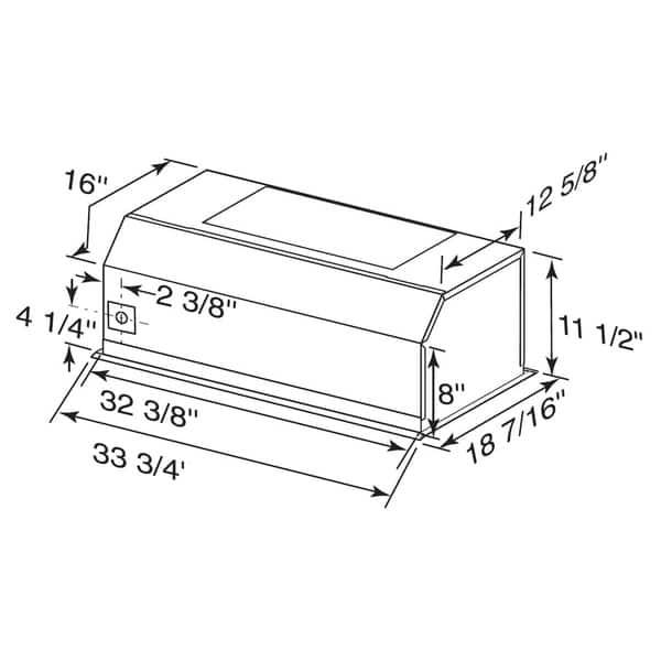 Shop Broan RMIP33 33-inch Professional Style Range Hood
