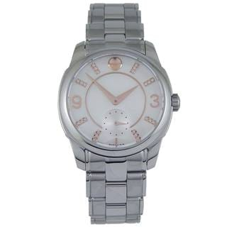 Movado Women's White Mother of Pearl Diamond-Accented Watch