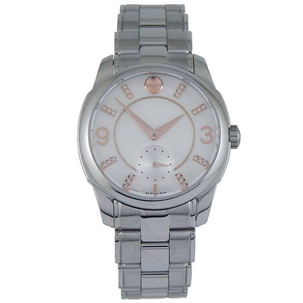781859f24b1 Shop Movado Women s White Mother of Pearl Diamond-Accented Watch - Free  Shipping Today - Overstock - 8368875